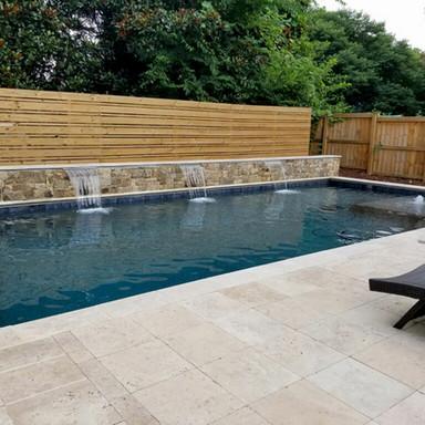 Travertine and stone new pool
