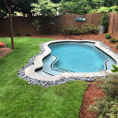 Small pool spa