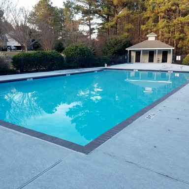 Community swimming pool resurfacing and renovation