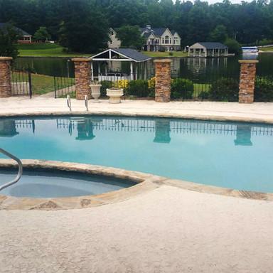 Lake pool remodel