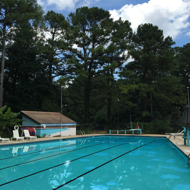 Pool resurfacing with racing lanes