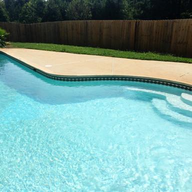 white plaster swimming pool