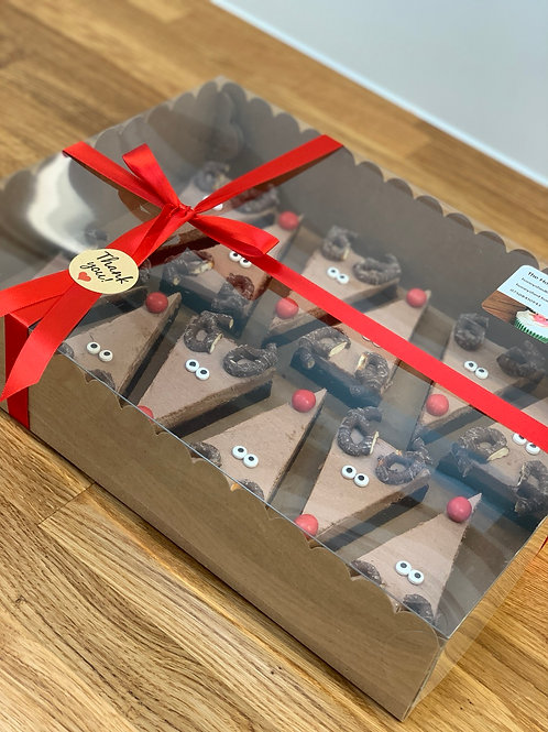 4x Rudolph brownies