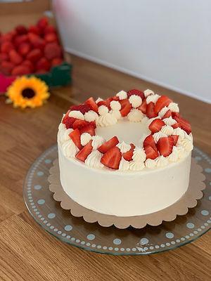 Chocolate, vanilla and strawberry