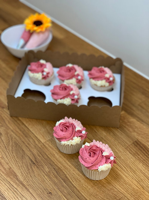 6x cupcakes with filling