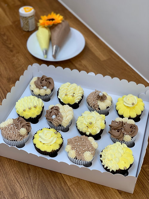 12x cupcakes with filling