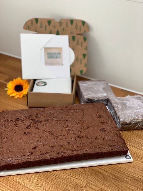 Box of brownies by post