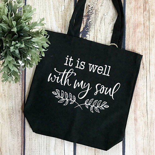 Canvas Tote - It Is Well With My Soul