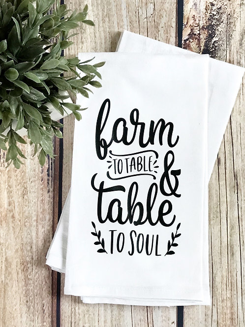 Farm to Table Flour Sack Towel