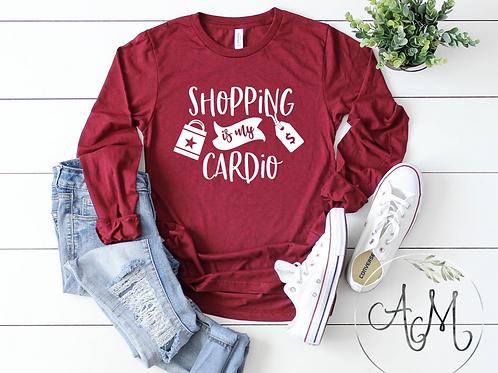 Shopping is my Cardio Long Sleeve Shirt