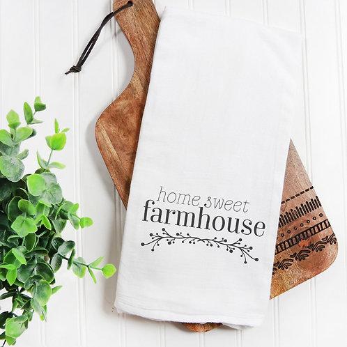 Home Sweet Farmhouse Flour Sack Towel