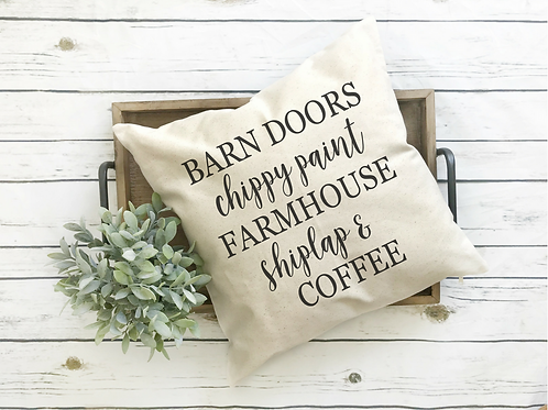 Barn Doors & Chippy Paint Pillow Cover