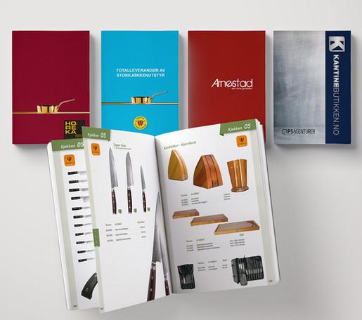 En katalog - fire omslag