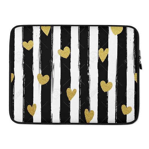 Gold hearts Laptop Sleeve