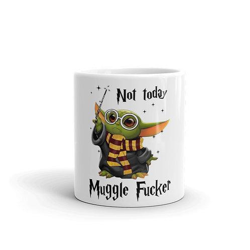 Muggle Fucker White glossy mug