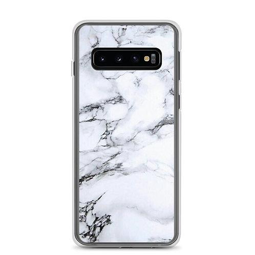 White Marble Samsung Case