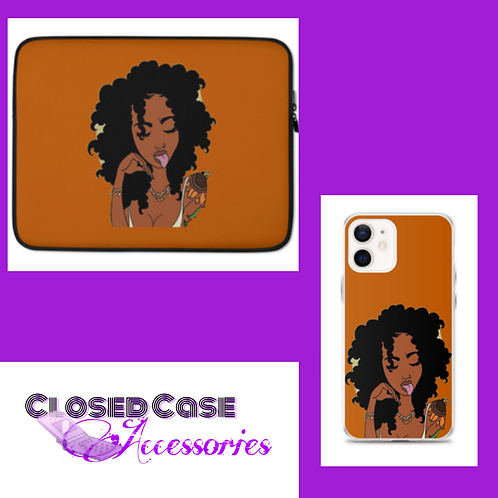 Sunflower Fro Laptop Sleeve and Phone Case Duo