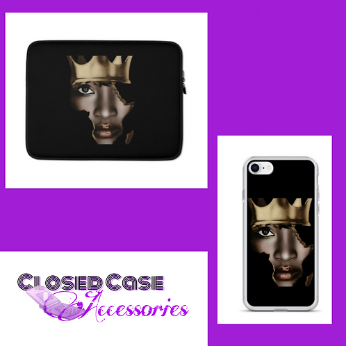 Queen Africa Laptop Sleeve and Phone Case Duo