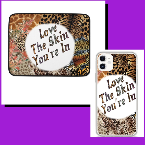 The Skin You're In Phone case and Laptop Sleeve Duo