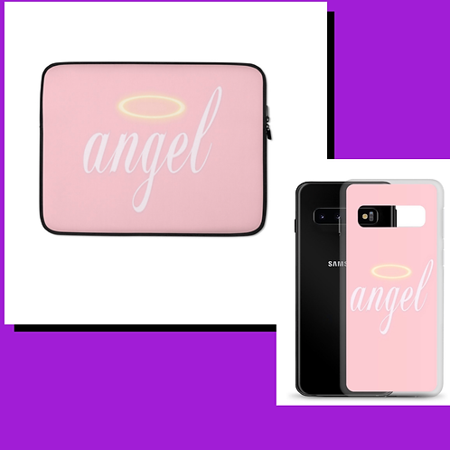 Halo Angel Laptop sleeve and Phone Case Duo