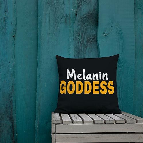 Melanin Goddess Premium Pillow