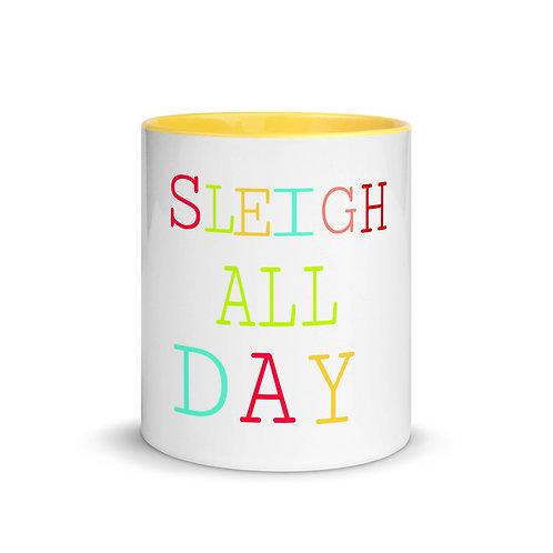 Sleigh All Day Mug with Color Inside