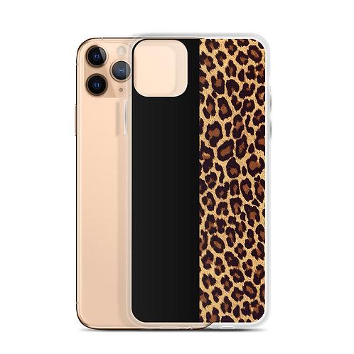 Half cheetah iPhone Case