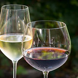 white wine - red wine - glasses - wine - wine glasses