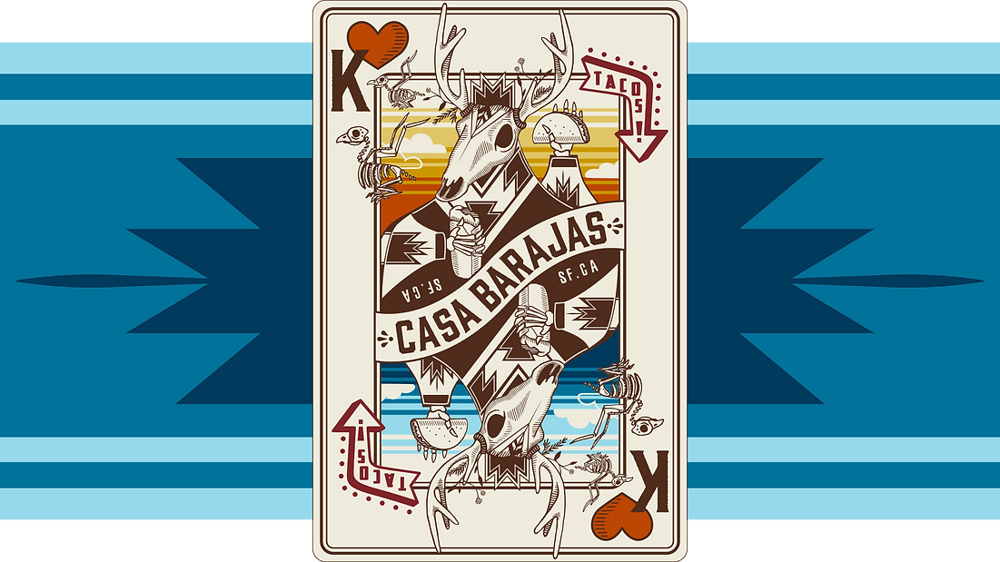 Casa Barajas Playing Card