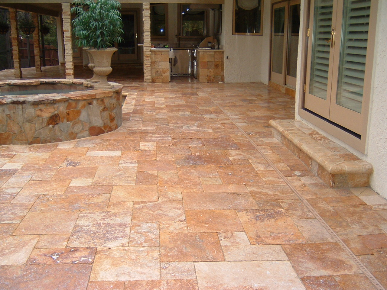 travertine pool pavers longwood orlando