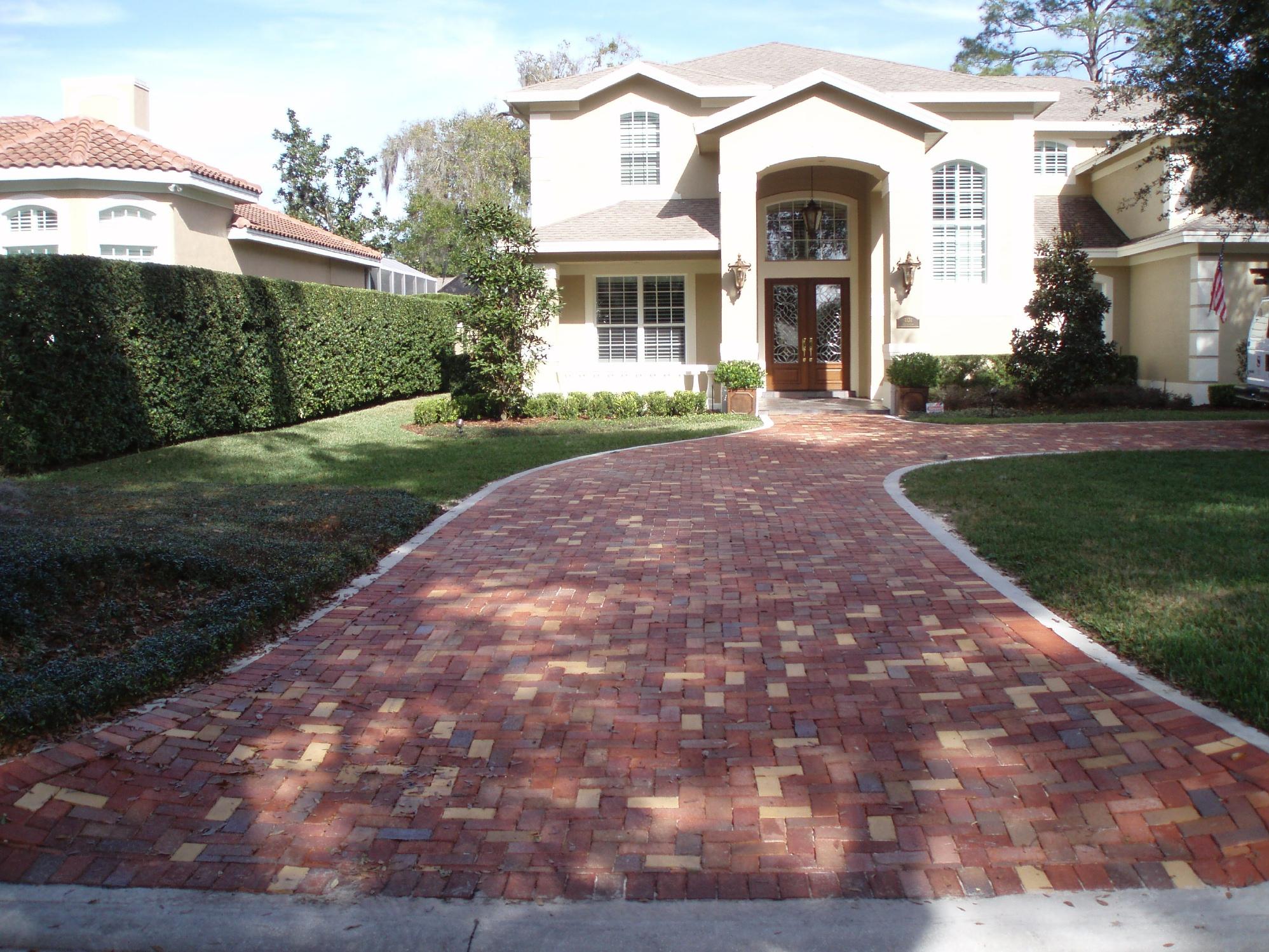 brick driveway winter park orlando