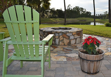 flagstone patio pavers and firepit lake mary fl by roman roads hardscapes inc