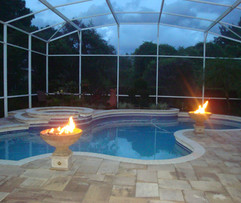 pool pavers orlando and gas fire pit