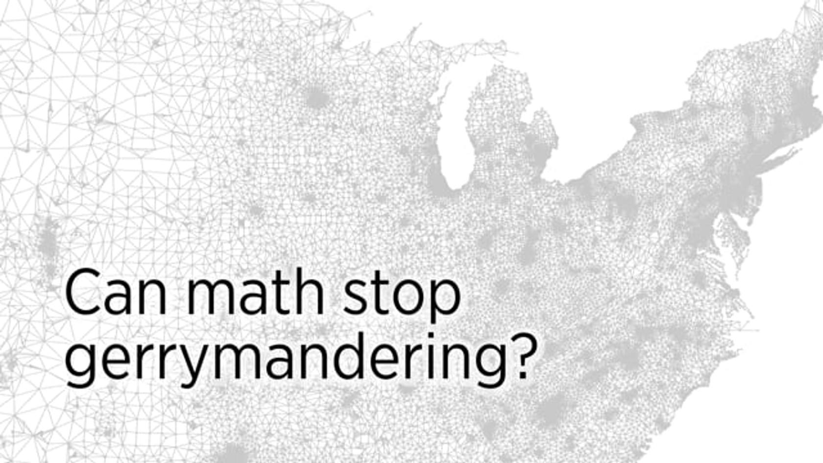 Can Math Stop Gerrymandering?