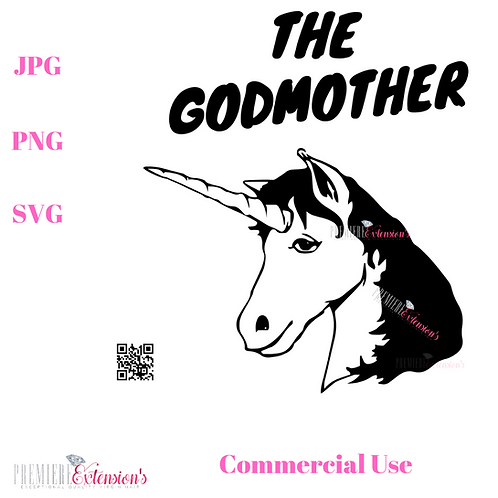 The GodMother Unicorn SVG