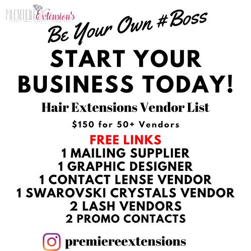 Exceptional Quality Wholesale Hair Extensions 50+ Vendor List