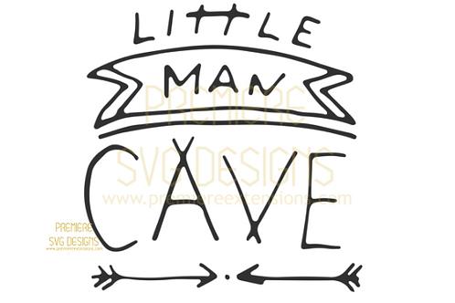 Little Man Cave SVG