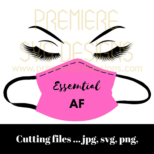 Pink ESSENTIAL AF SVG, files for Cricut, Silhouette