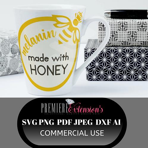 3_Melanin Made With Honey SVG