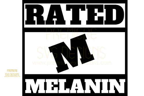 Rated Melanin SVG