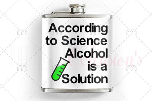 According to Science Alcohol is a Solution SVG