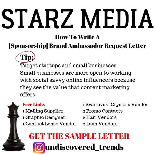 [Sponsorship] Brand Ambassador Request Letter
