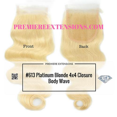 4x4 #613 Platinum Blonde Closure
