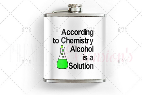 According to Chemistry Alcohol is a Solution SVG