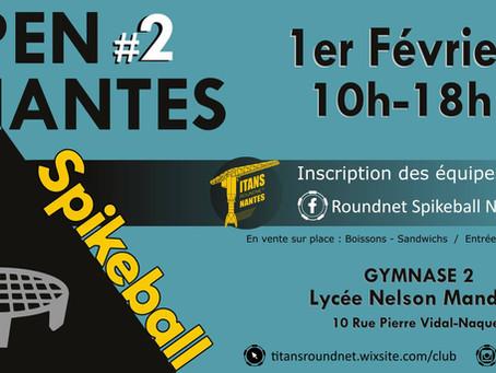 Inscrivez-vous pour le 2e Open de Nantes !