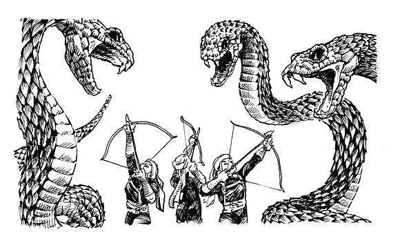 Archers vs Snakes