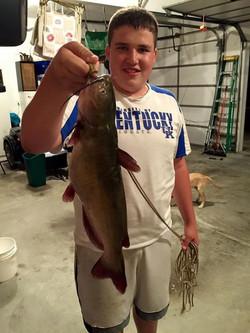 Z doing a little night fishing!