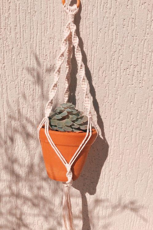 Suporte para plantas Macrâme traçado