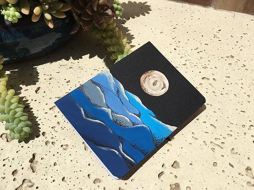 Caderno Eco, pintado a mão - Luar