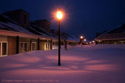 Snow at Georgian Place